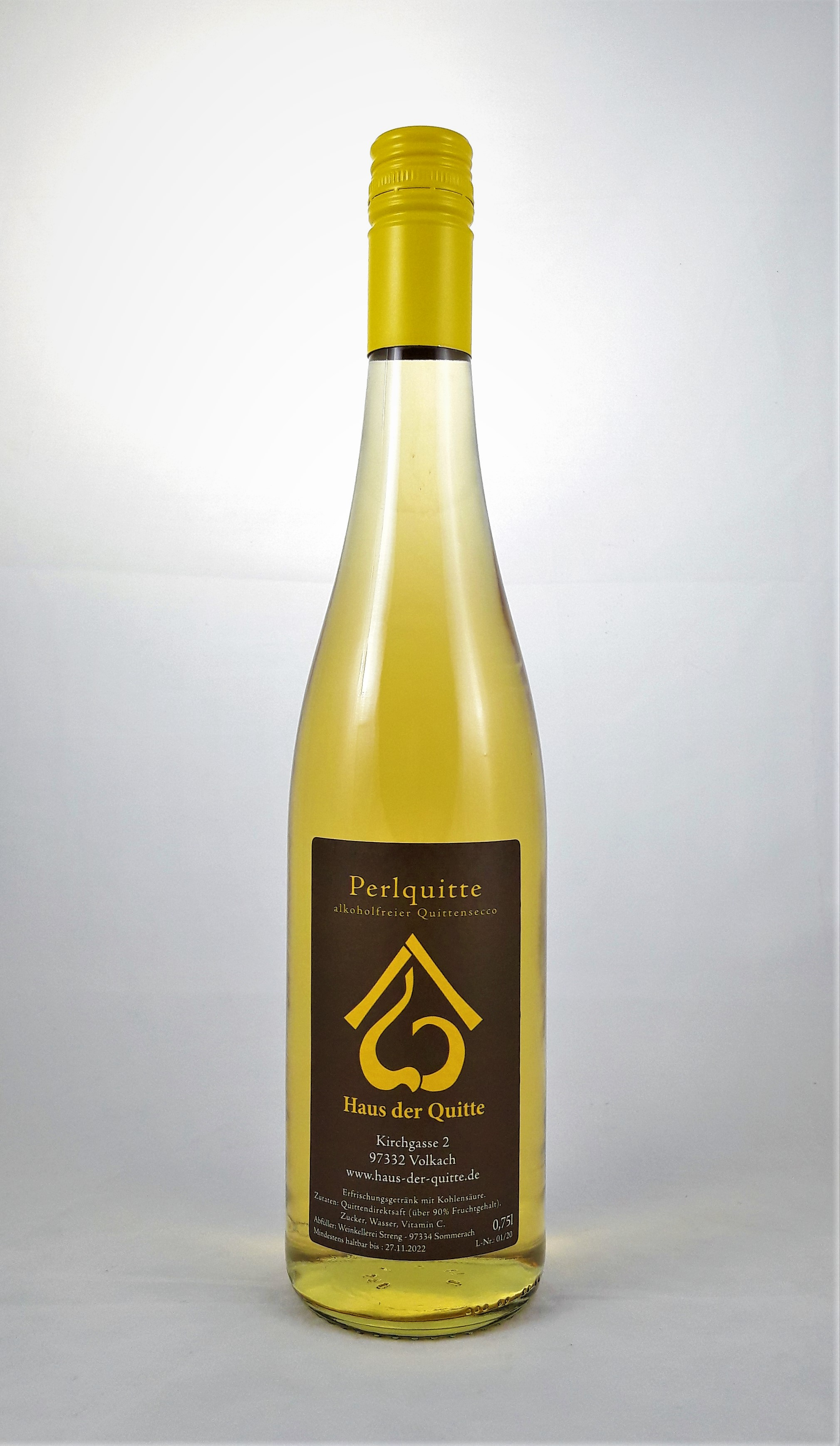 Perlquitte, alkoholfreier Quittensecco, 0,75 l